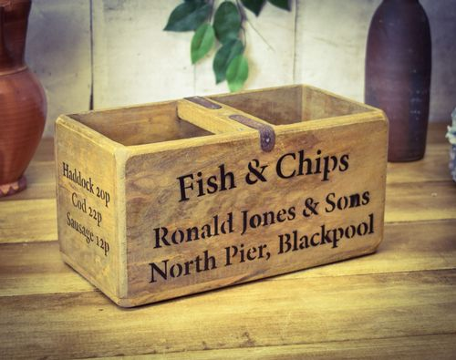 Medium Vintage BoxBlackpool Fish & Chips